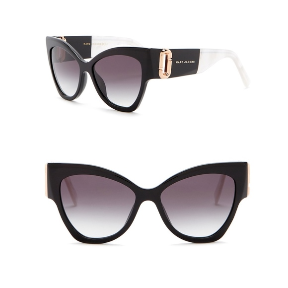 002f4c148b8 Marc Jacobs 55mm Cateye Sunglasses Black   Pearl